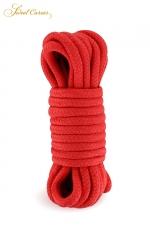 Corde de bondage rouge 5m - Sweet Caress