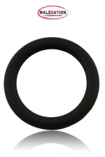 Cock-Ring  Silicone - Malesation : Cockring noir haute qualité en silicone disponible dans un diamètre de 4 cm, 4,5 cm et 5 cm.