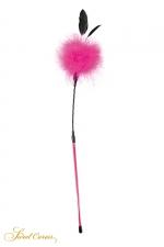 Plumeau à caresses rose - Sweet Caress : Ambiance plumes et paillettes pour ce plumeau à caresses en plumes rose permettant de stimuler les zones érogènes.