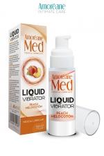 Lubrifiant Liquid Vibrator  Pêche 30ml - Amoreane Med
