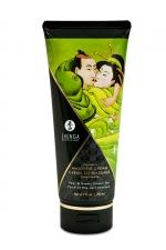 Crème de massage délectable poire et thé vert exotique -  Shunga : Le plus savoureux des massages avec la crème de massage comestible Shunga saveur poire et thé vert exotique.