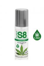 Lubrifiant S8 Hybride Cannabis 125ml : Lubrifiant Premium infusé au CBD), relaxant, ultra glissant, doux et soyeux et compatible avec les préservatifs.