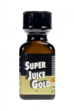Poppers Super Juice gold 24ml : Le poppers Super Juice gold est un arôme puissant et fort à base de nitrite de Pentyle, en grand flacon de 24 ml.