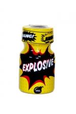 Poppers Explosive 9 ml : Arôme aphrodisiaque à effet immédiat, à base de nitrite de propyle, en flacon de poche de 9 ml.